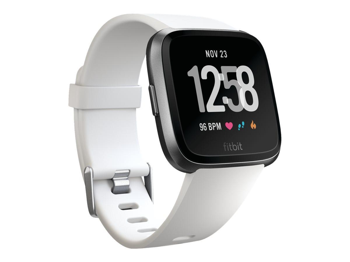 Fitbit Versa - Schwarz - intelligente Uhr mit Band