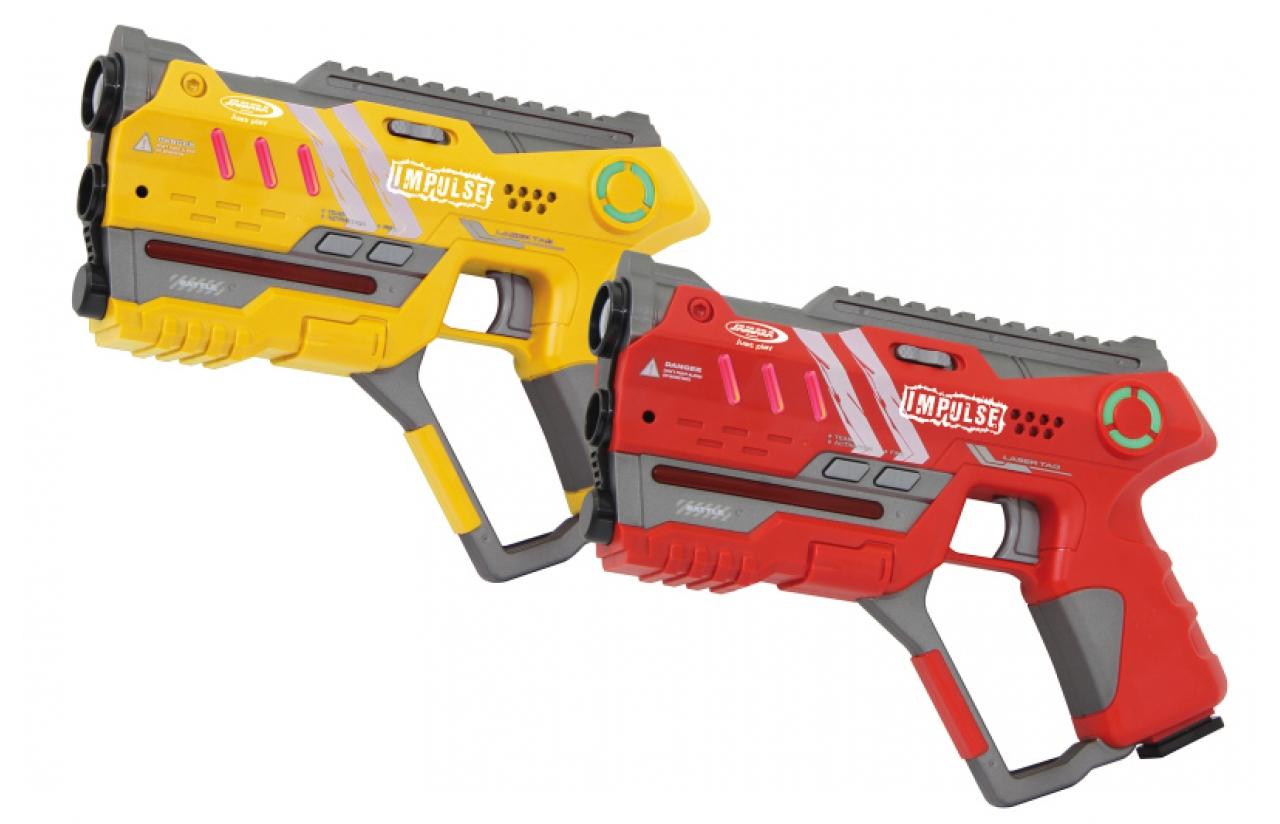 JAMARA 410085 - Spielzeugpistole - Junge/Mädchen - Rot - Gelb - 2 Stück(e)