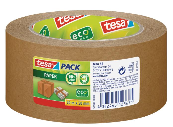 Tesa paper ecoLogo 50mx50mm - 50 m - Braun - 50 mm - 1 Stück(e)