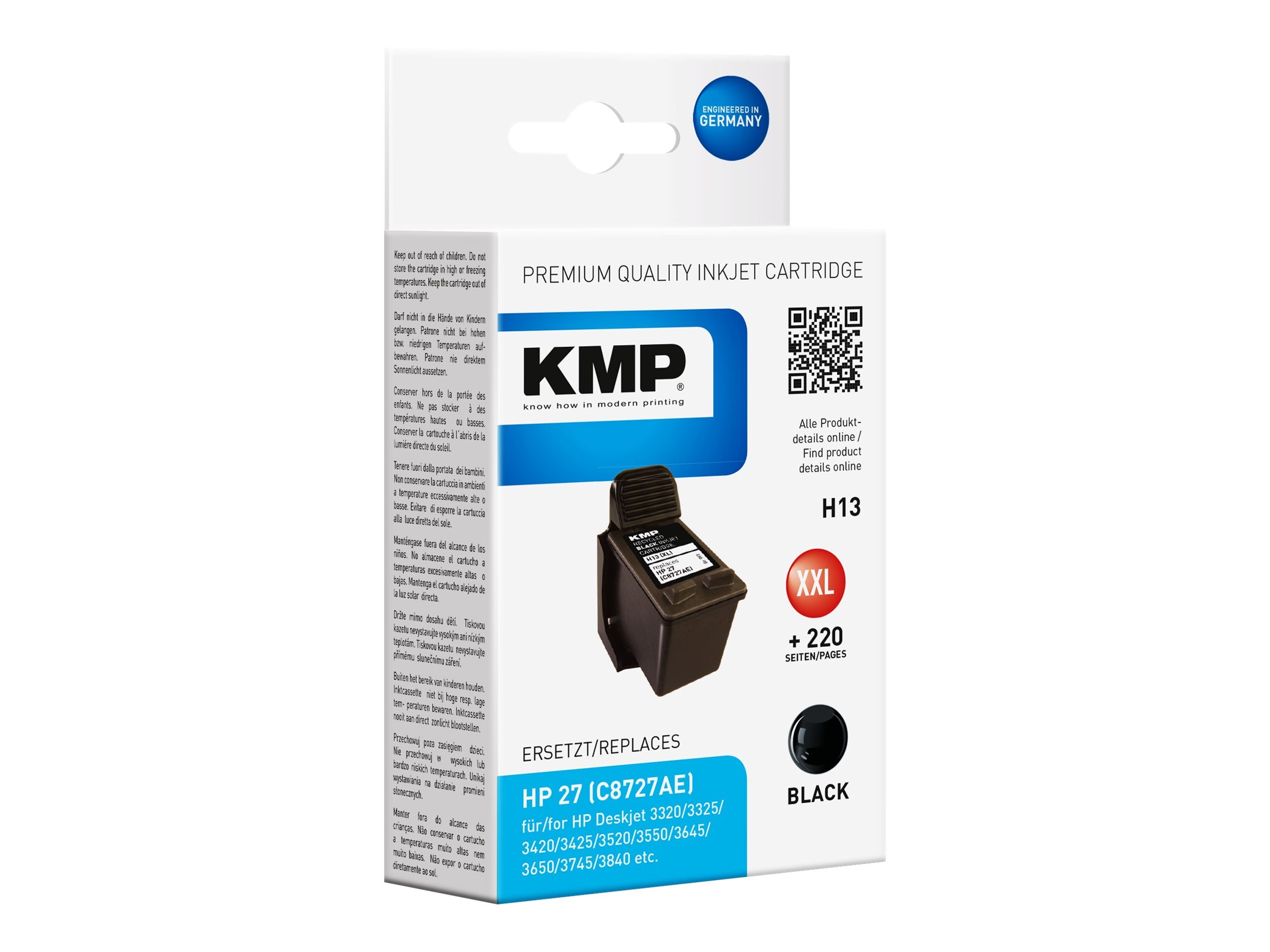 KMP H13 - 19 ml - Schwarz - compatible - Tintenpatrone