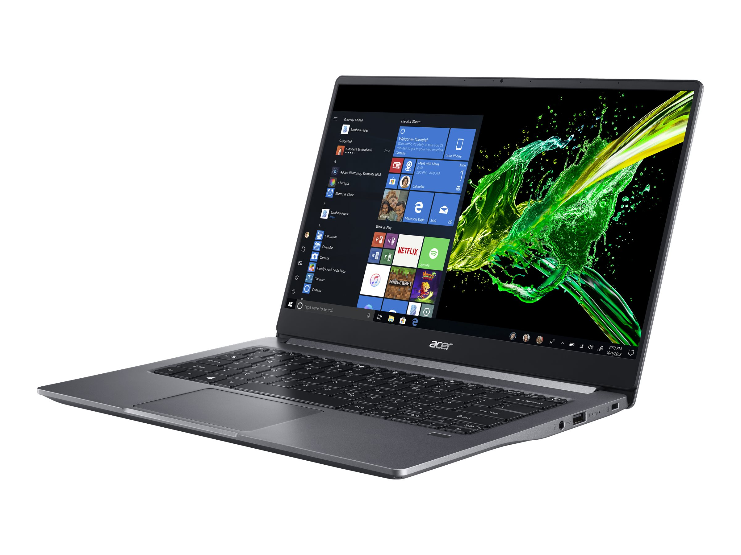 "Acer Swift 3 SF314-57-55BK - Core i5 1035G1 / 1 GHz - Win 10 Home 64-Bit - 8 GB RAM - 512 GB SSD - 35.6 cm (14"")"