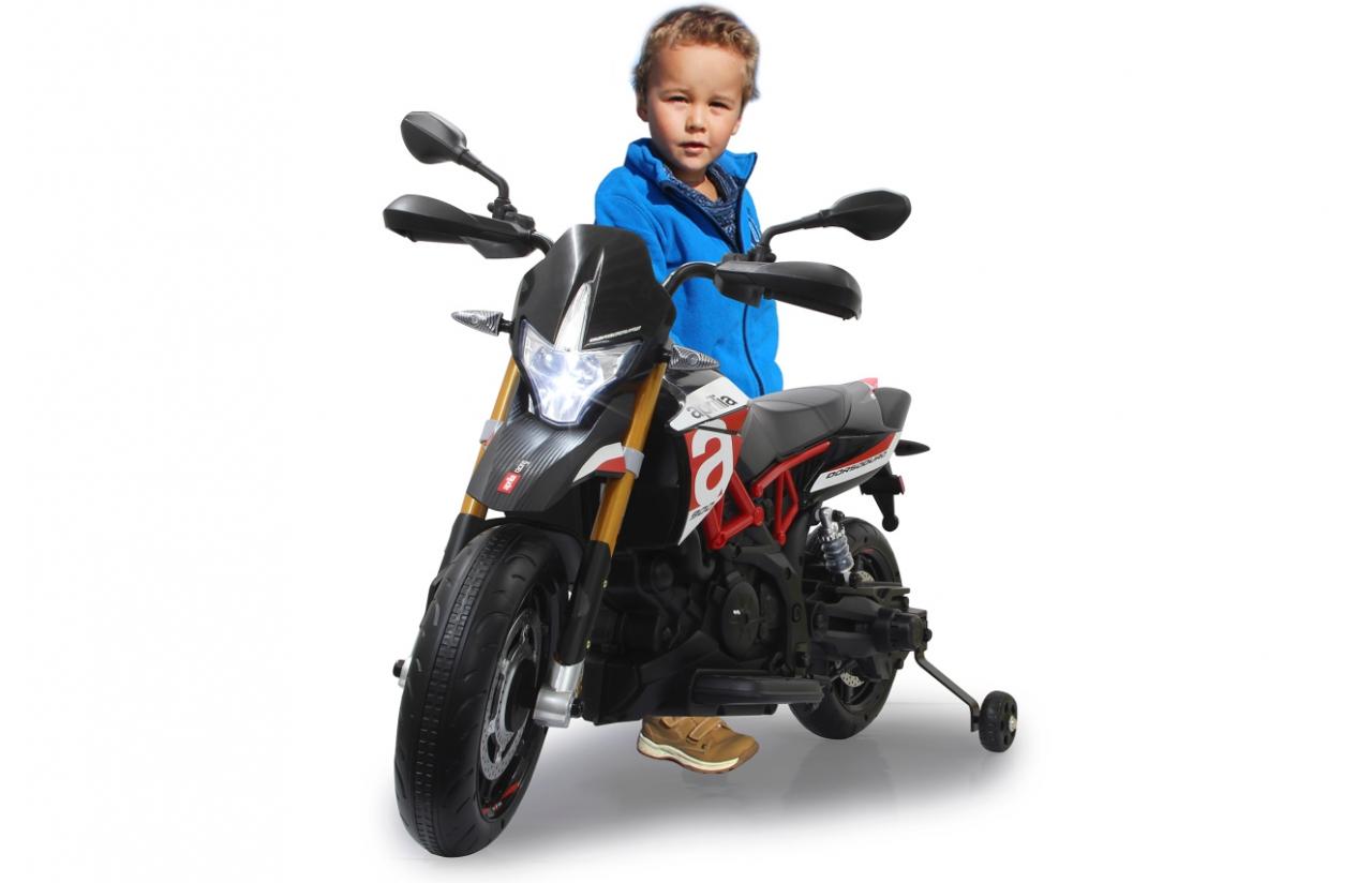 JAMARA Aprilia Dorsoduro 900 - Batteriebetrieben - Motorrad - Junge - 3 Jahr(e) - 2 Rad/Räder - Schwarz - Rot - Weiß
