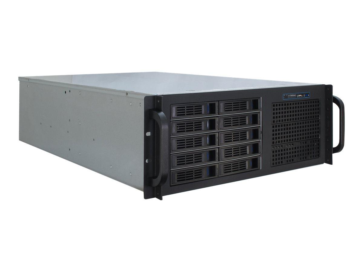Inter-Tech IPC 4U-4410 - Rack-Montage - 4U - erweitertes ATX / SSI EEB - ohne Netzteil (ATX)