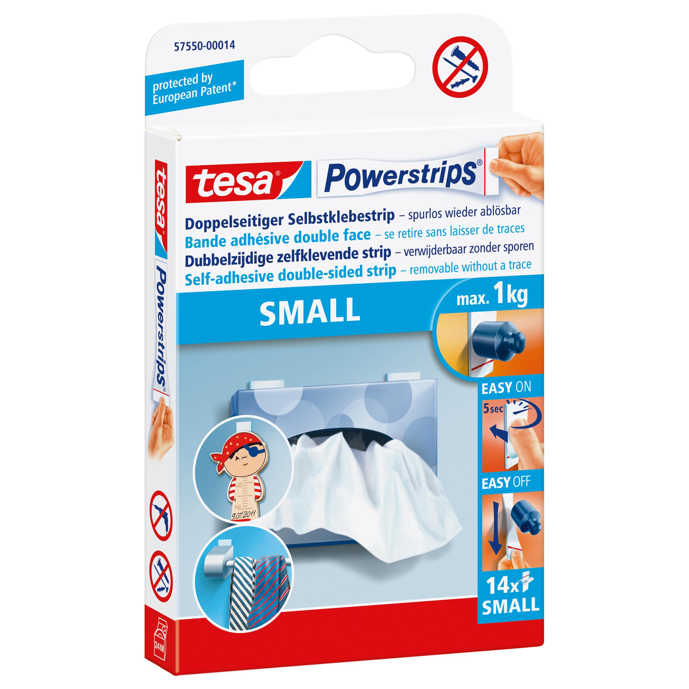 Tesa 57550-00014 - Montage-Etikett - Weiß - 1 kg/cm
