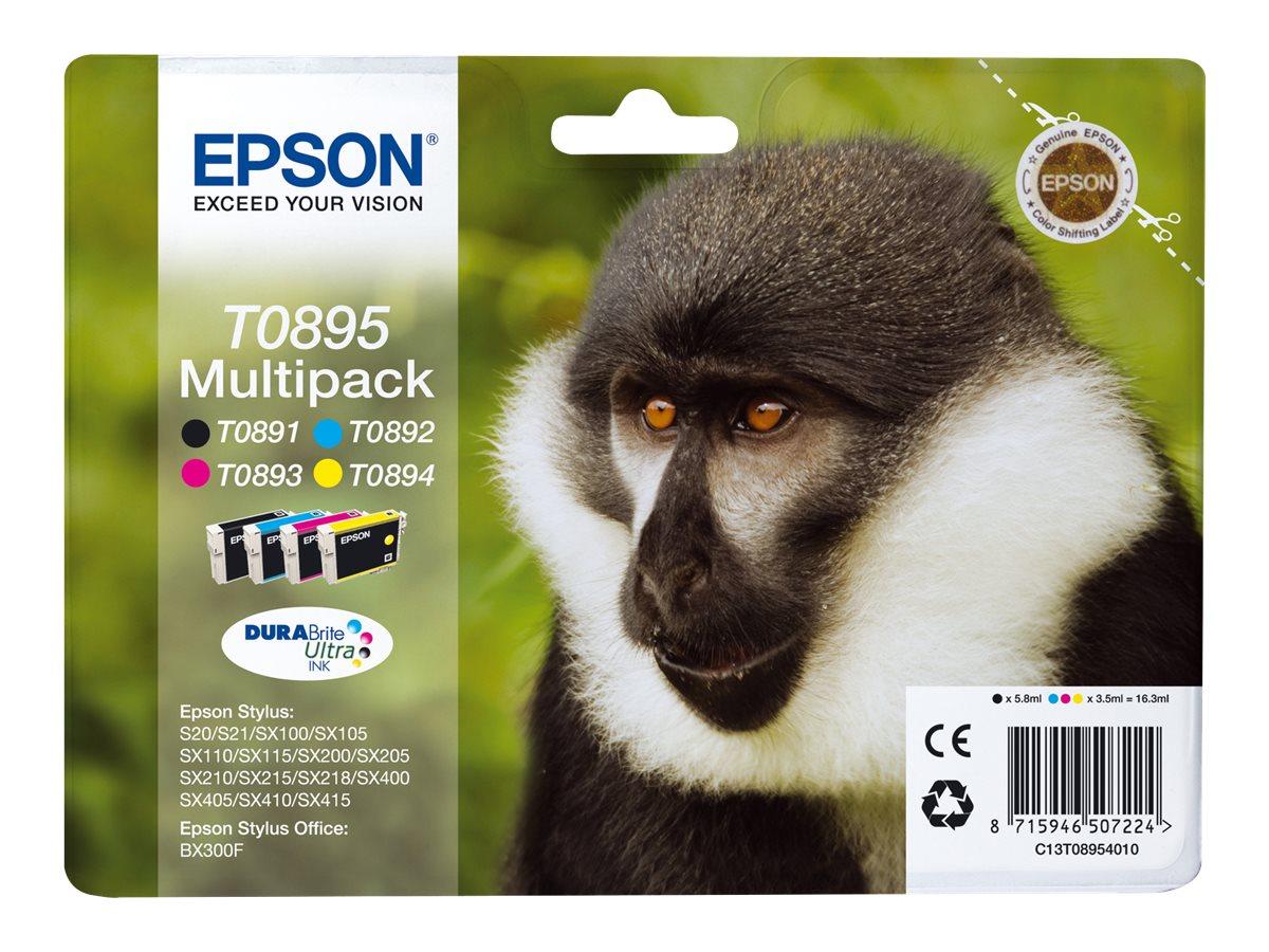 Epson T0895 Multipack - 4er-Pack - Schwarz, Gelb, Cyan, Magenta