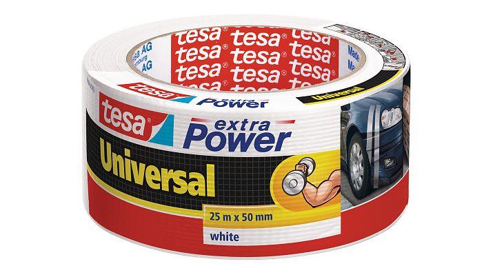 Tesa 56388-02 - Weiß - Bündelung - Befestigung - Handwerk - Kennzeichnung - Reparatur - Verstärkung - 25 m - 50 mm