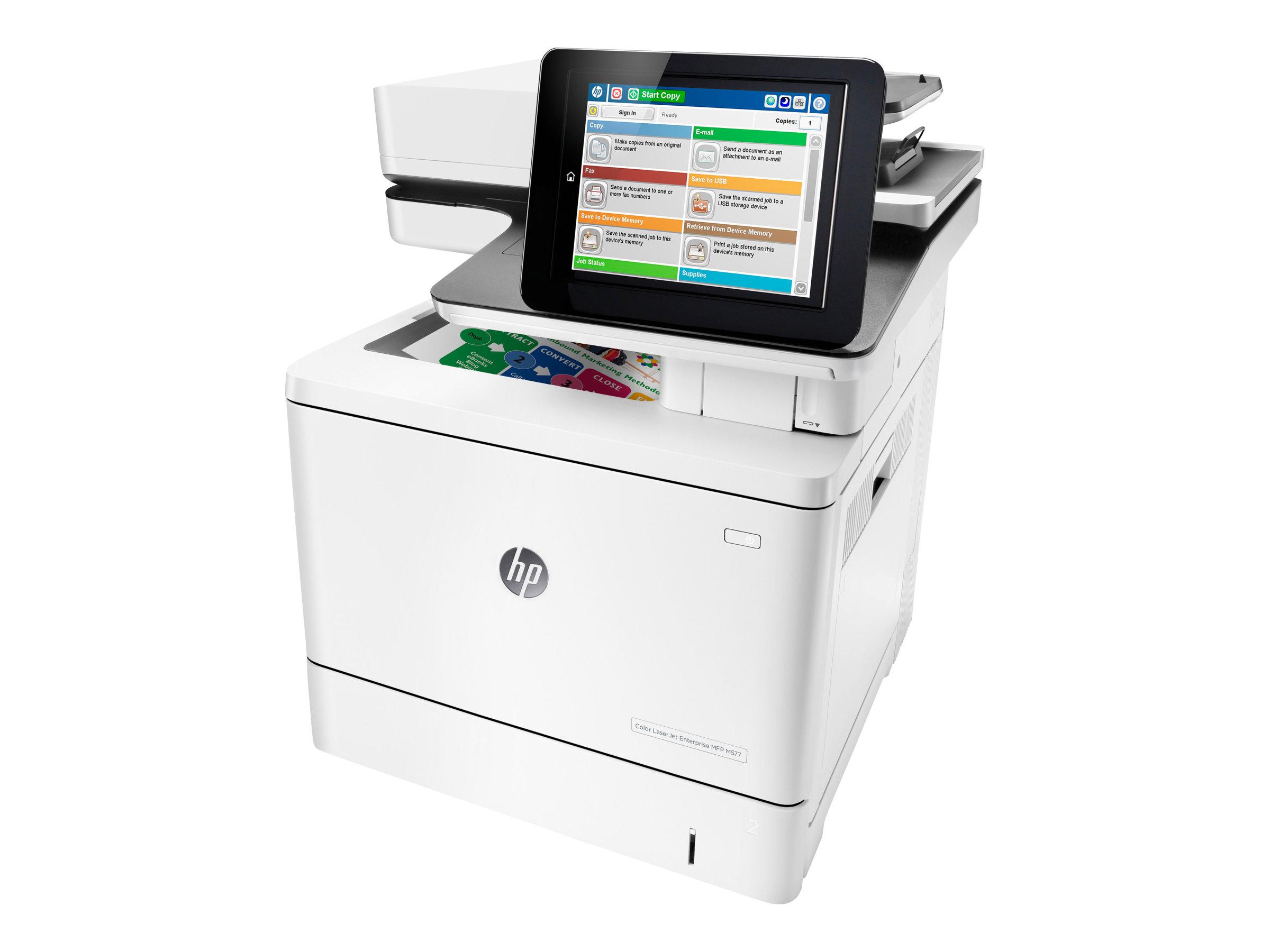 HP LaserJet Enterprise MFP M577f - Multifunktionsdrucker - Farbe - Laser - Legal (216 x 356 mm)