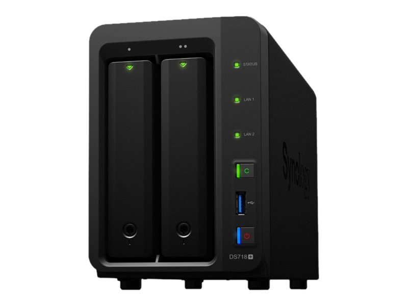 Synology Disk Station DS718+ - NAS-Server - 2 Schächte