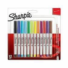 Sharpie Permanent Marker Ultra Fine 12er Blister