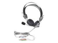 175517 Headset Binaural Kopfband Grau