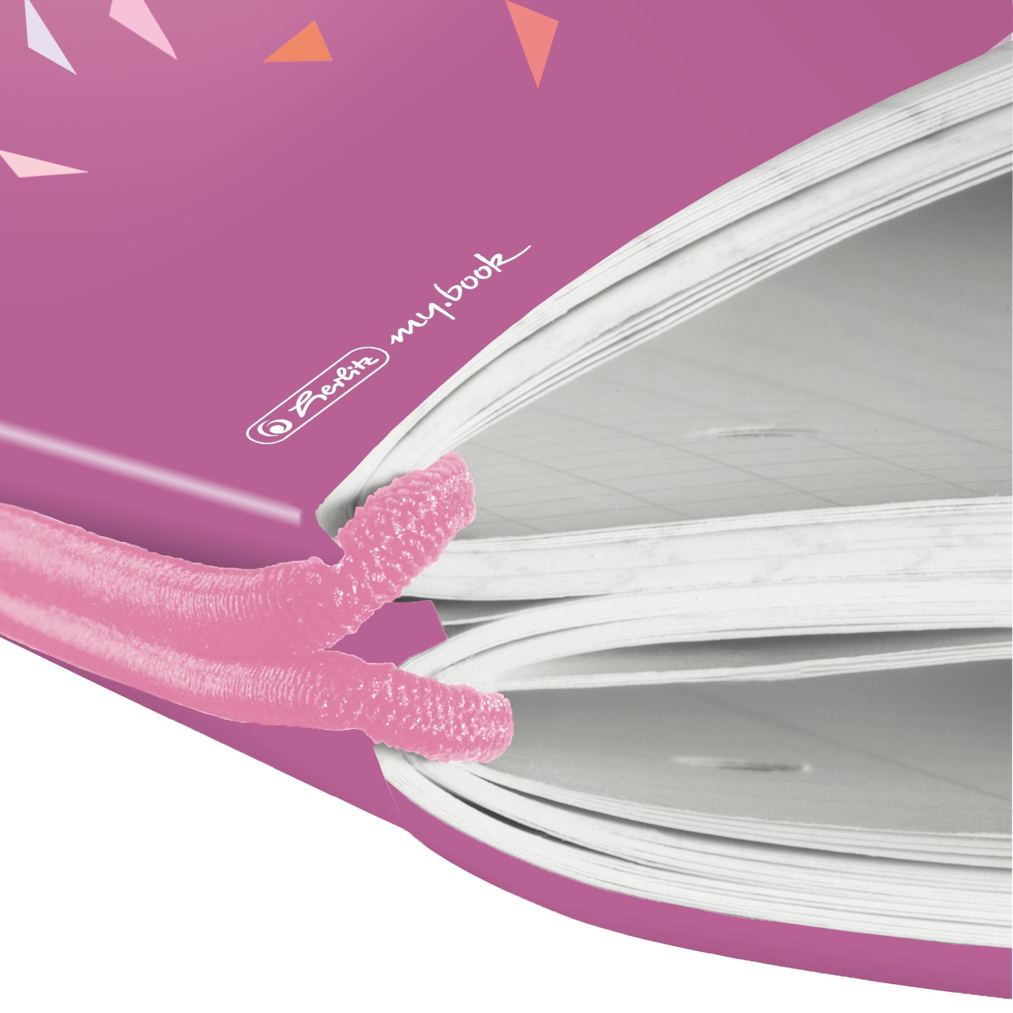 Herlitz 50027279 - Abbildung - Pink - A4 - 80 Blätter - 80 g/m² - Kariertes Papier