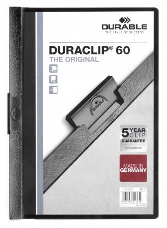 Durable Duraclip 60 - Schwarz - Transparent - PVC - 60 Blätter - A4 - 1 Stück(e)