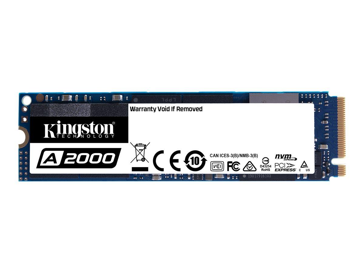 Kingston A2000 - 1 TB SSD - intern - M.2 2280 - PCI Express 3.0 x4 (NVMe)