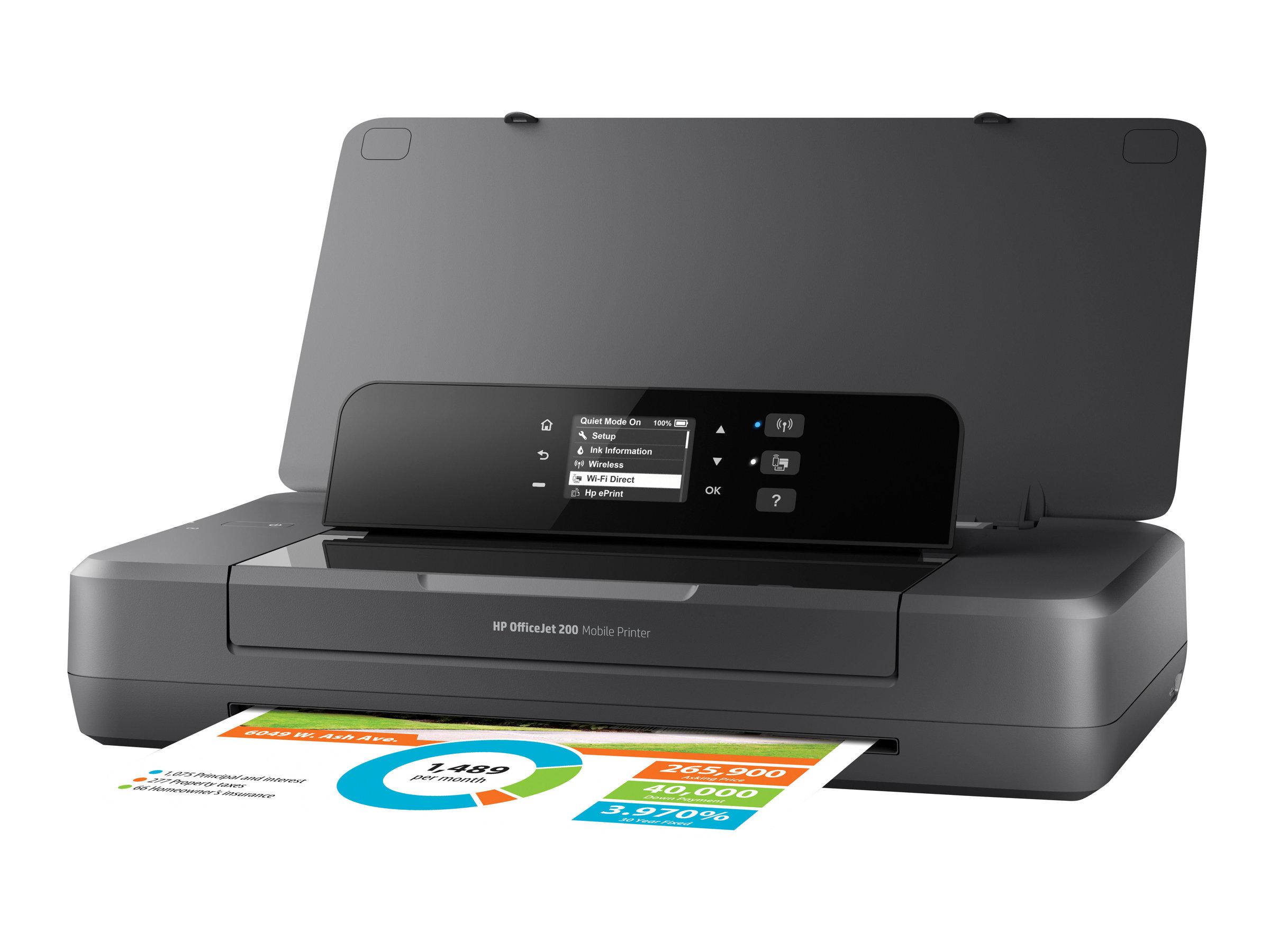 HP Officejet 200 Mobile Printer - Drucker - Farbe - Tintenstrahl - A4/Legal - 1200 x 1200 dpi - bis zu 20 Seiten/Min. (einfarbig)/