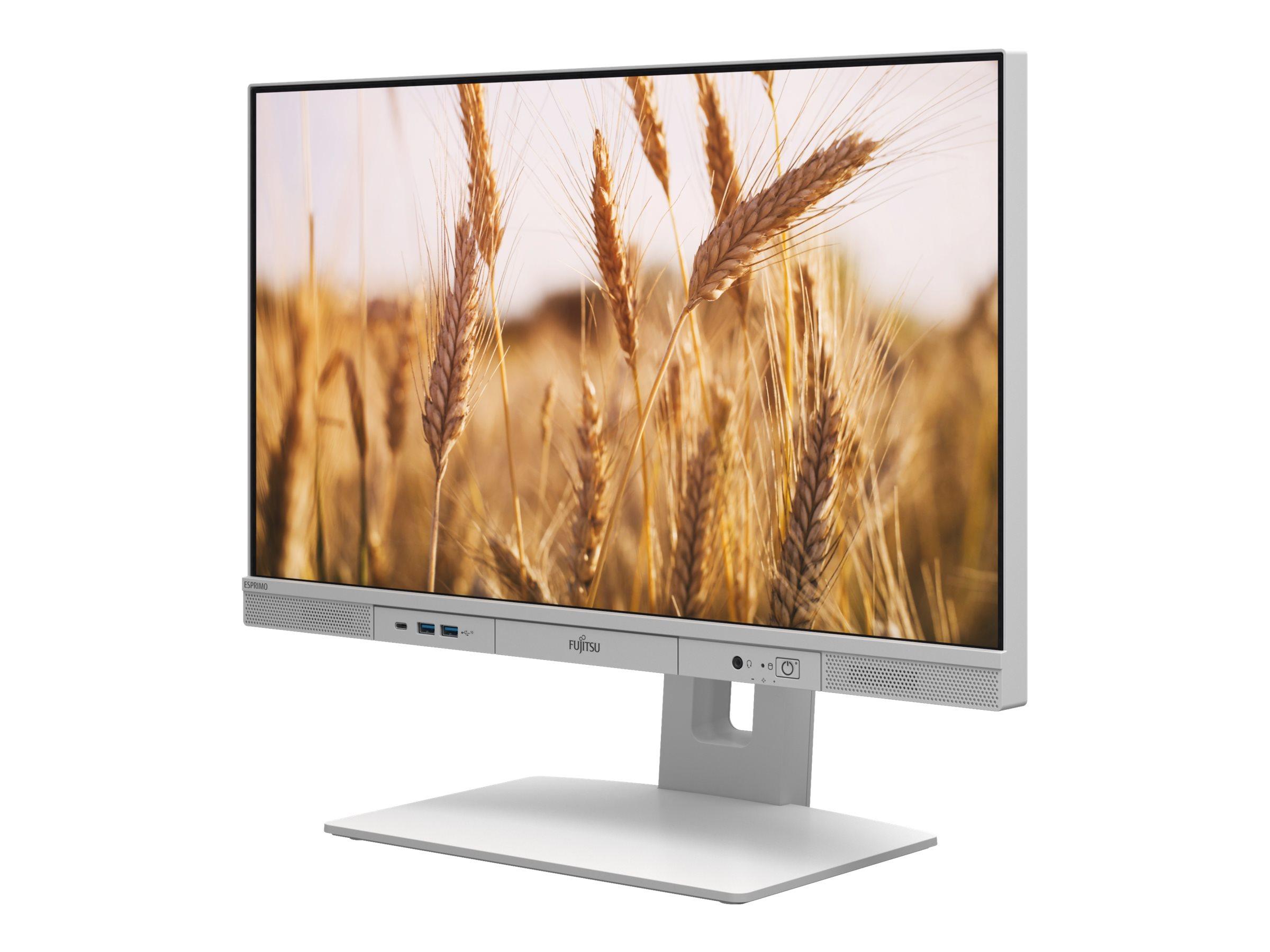 "Fujitsu ESPRIMO K5010/24 - All-in-One (Komplettlösung) - Core i5 10500 / 3.1 GHz - RAM 8 GB - SSD 256 GB - NVMe - UHD Graphics 630 - GigE - WLAN: Bluetooth 5.0, 802.11a/b/g/n/ac/ax - Win 10 Pro 64-Bit - Monitor: LED 60.5 cm (23.8"")"