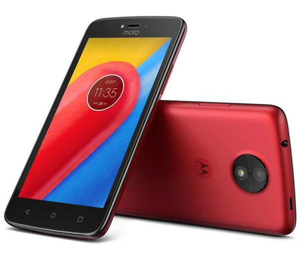Motorola Solutions Moto C 16 GB Dual-SIM metallic cherry - Smartphone - 16 GB