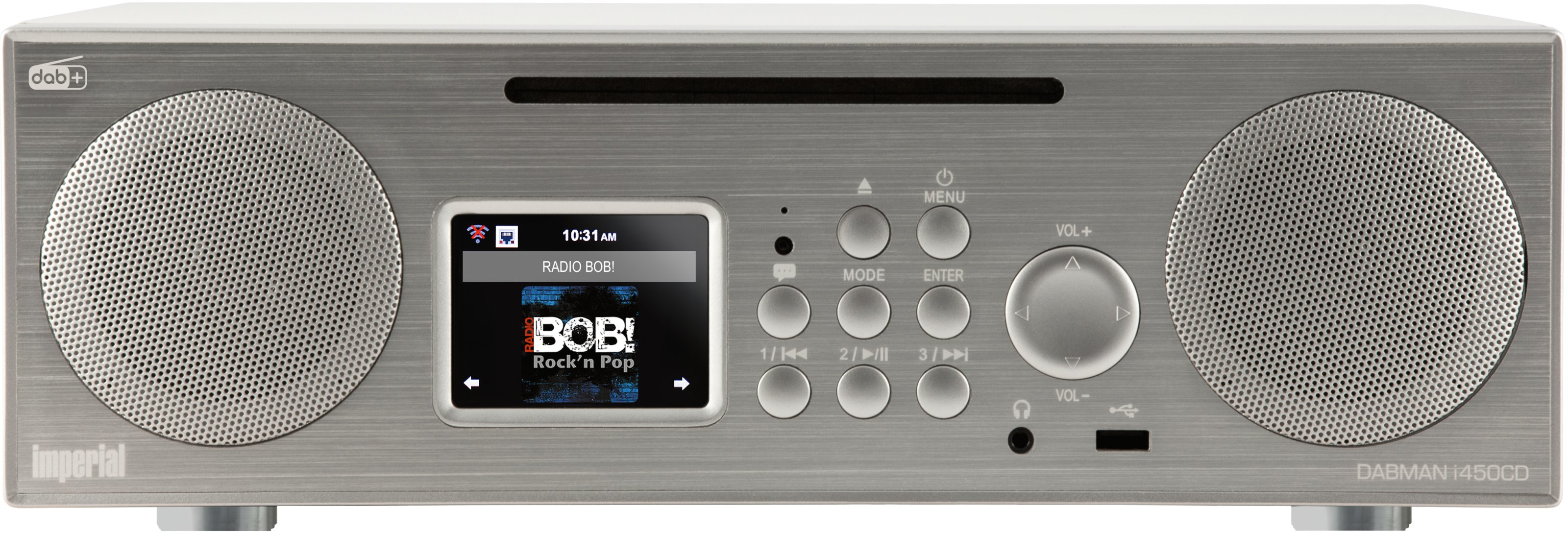 Telestar DABMAN i450 CD - Persönlich - Analog - DAB,DAB+,UKW - 174 - 240 MHz - 10 W - TFT