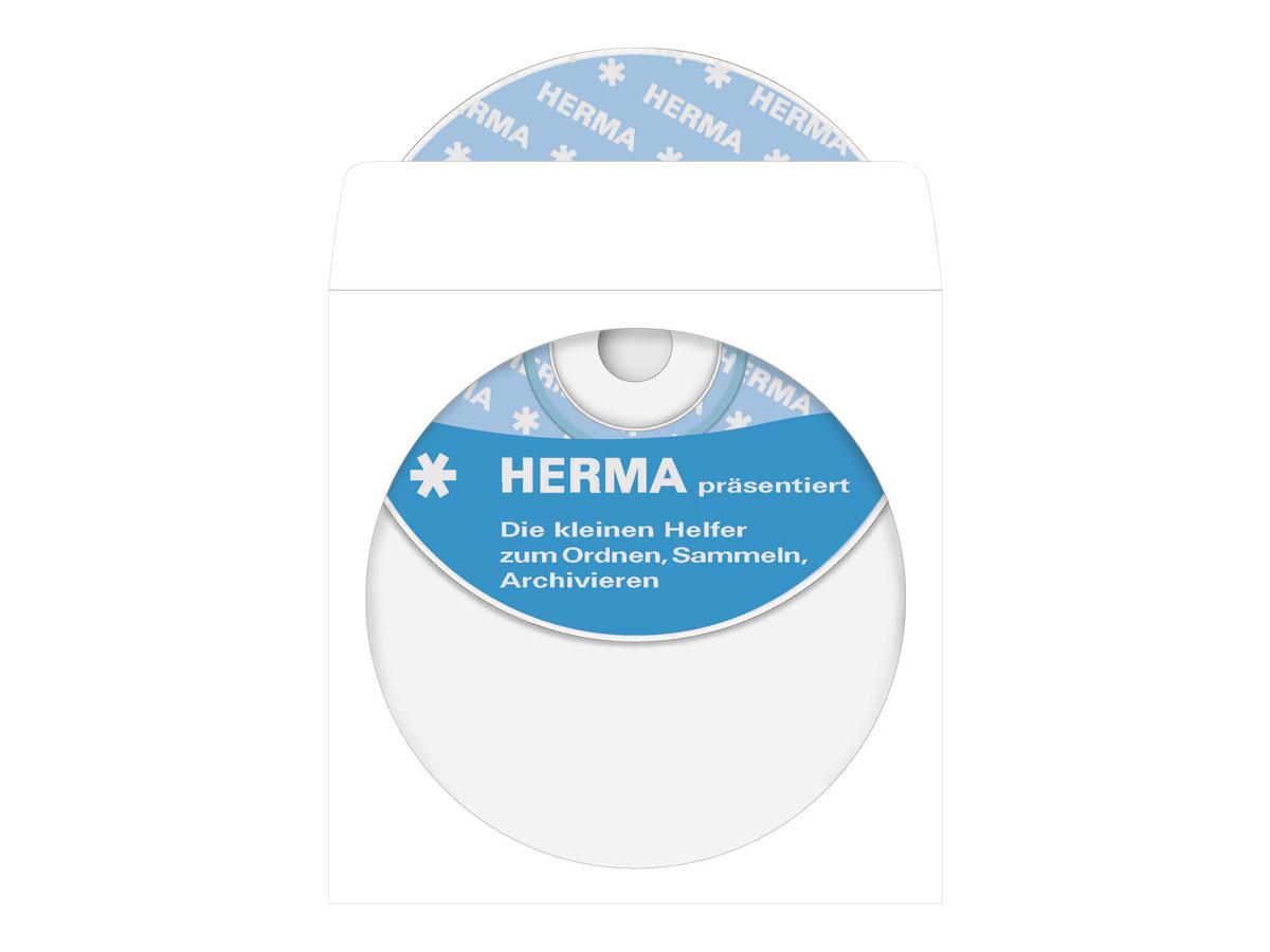 HERMA CD-/DVD-Hülle - weiß