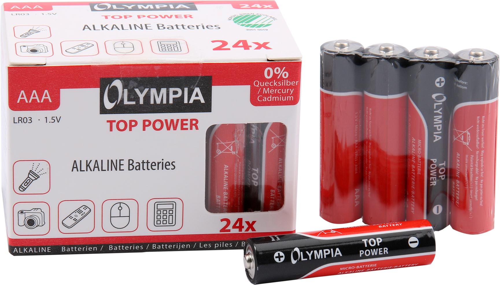 Olympia Alkaline Batterien AAA 24er Pack - Batterie - Batterie