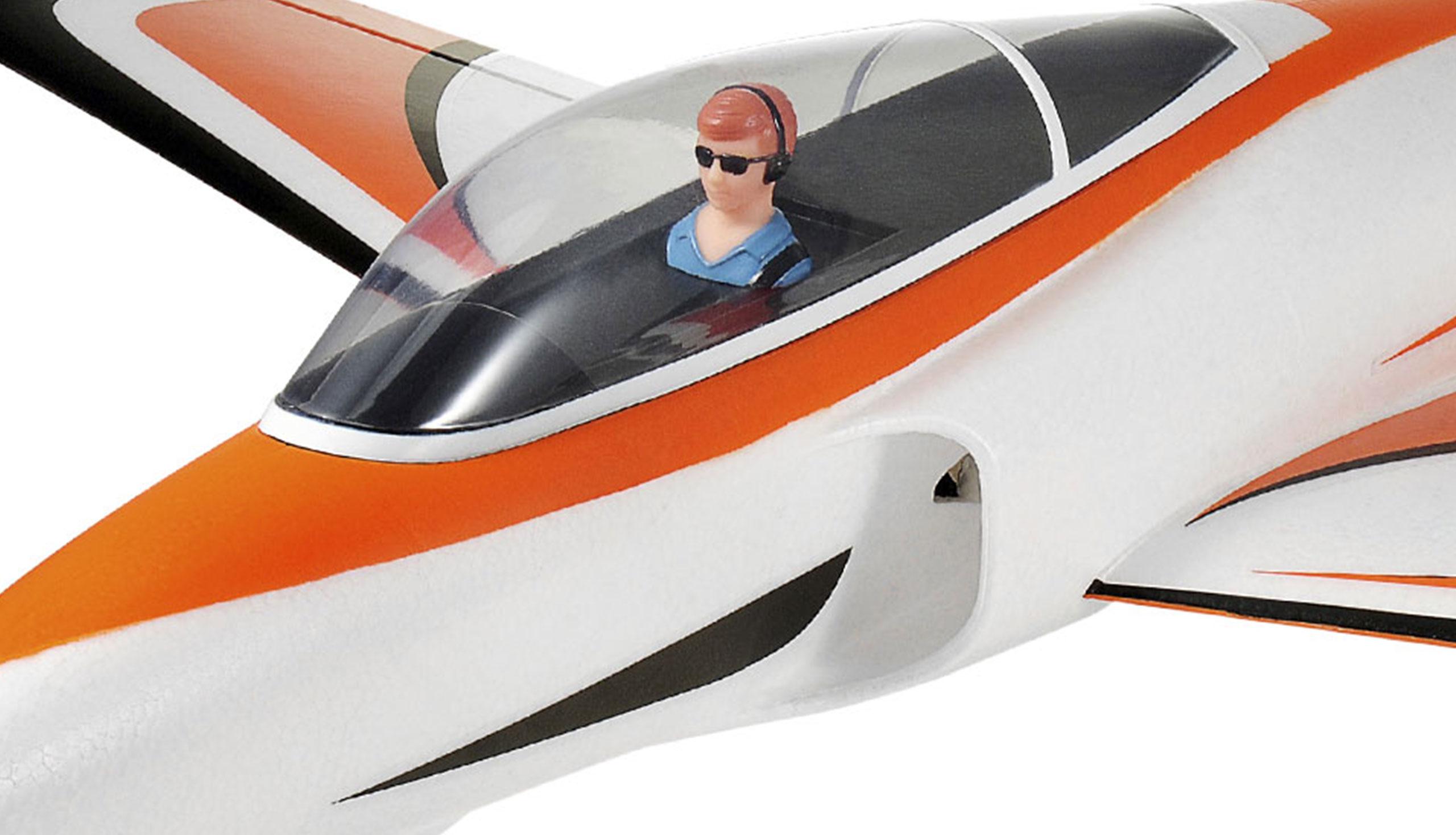 Amewi JetStar V2 - Funkgesteuertes (RC) Kampfflugzeug - Plug-N-Play(PNP) - Schwarz - Orange - Weiß - Elektromotor - Junge - Bürstenlos