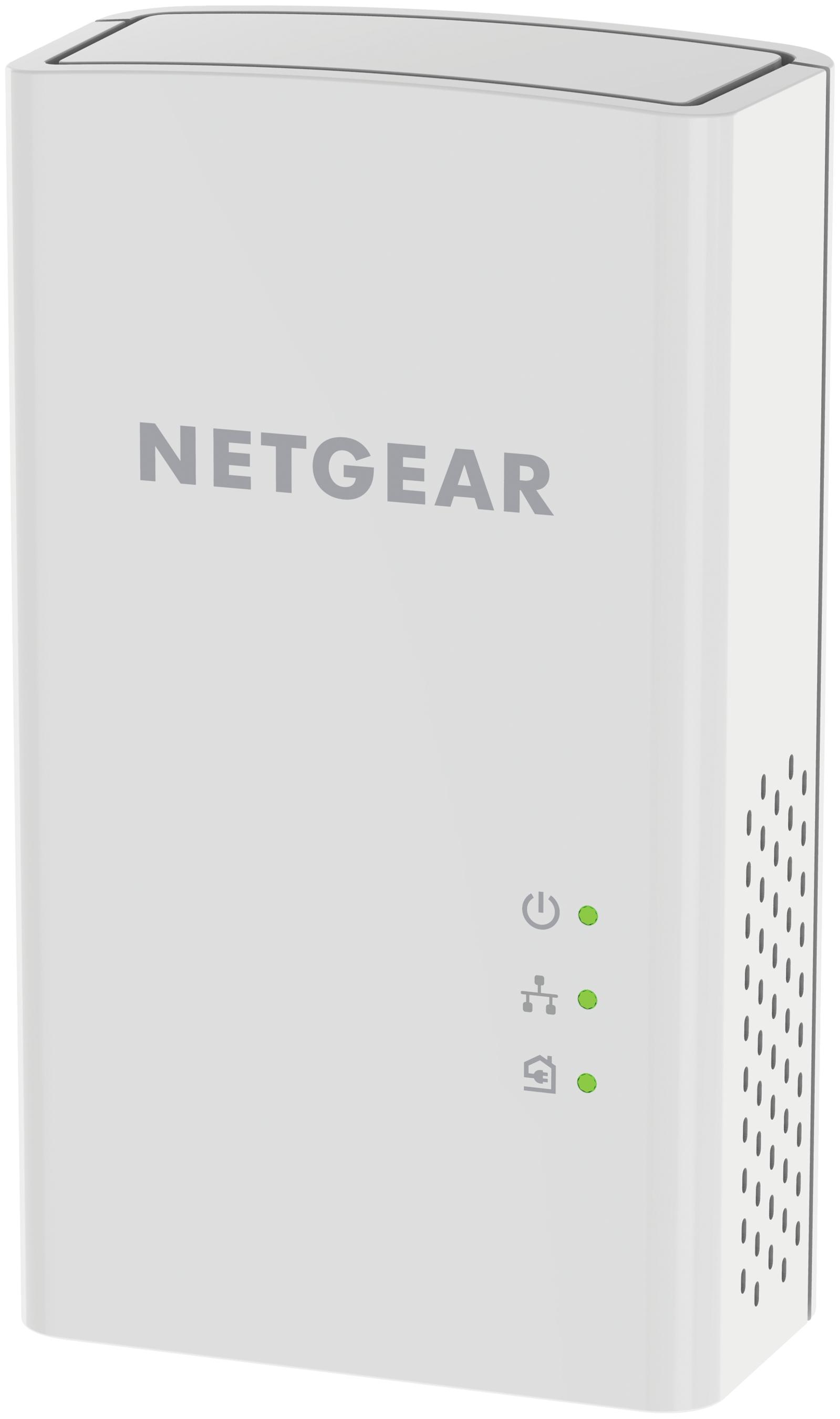 Netgear PL1200-100PES 1200Mbit/s Eingebauter Ethernet-Anschluss Weiß 2Stück(e) PowerLine Netzwerkadapter