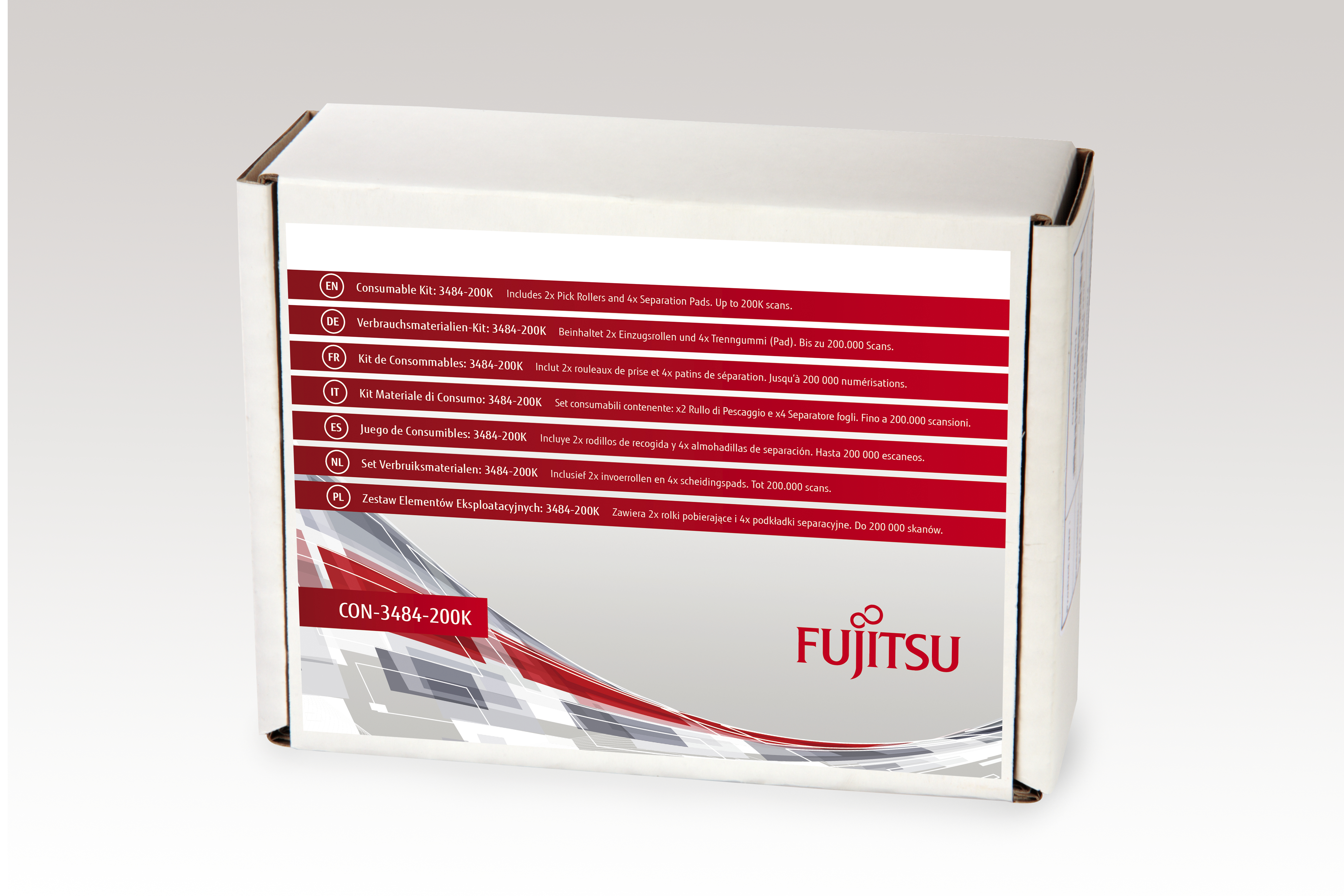 Fujitsu Consumable Kit: 3484-200K - Scanner - Verbrauchsmaterialienkit