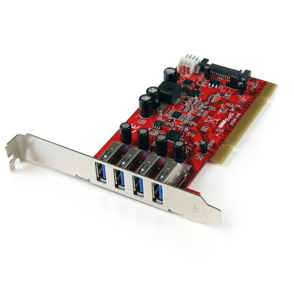 StarTech.com 4 Port USB 3.0 PCI Schnittstellenkarte- PCI SuperSpeed USB 3.0 Controller Karte