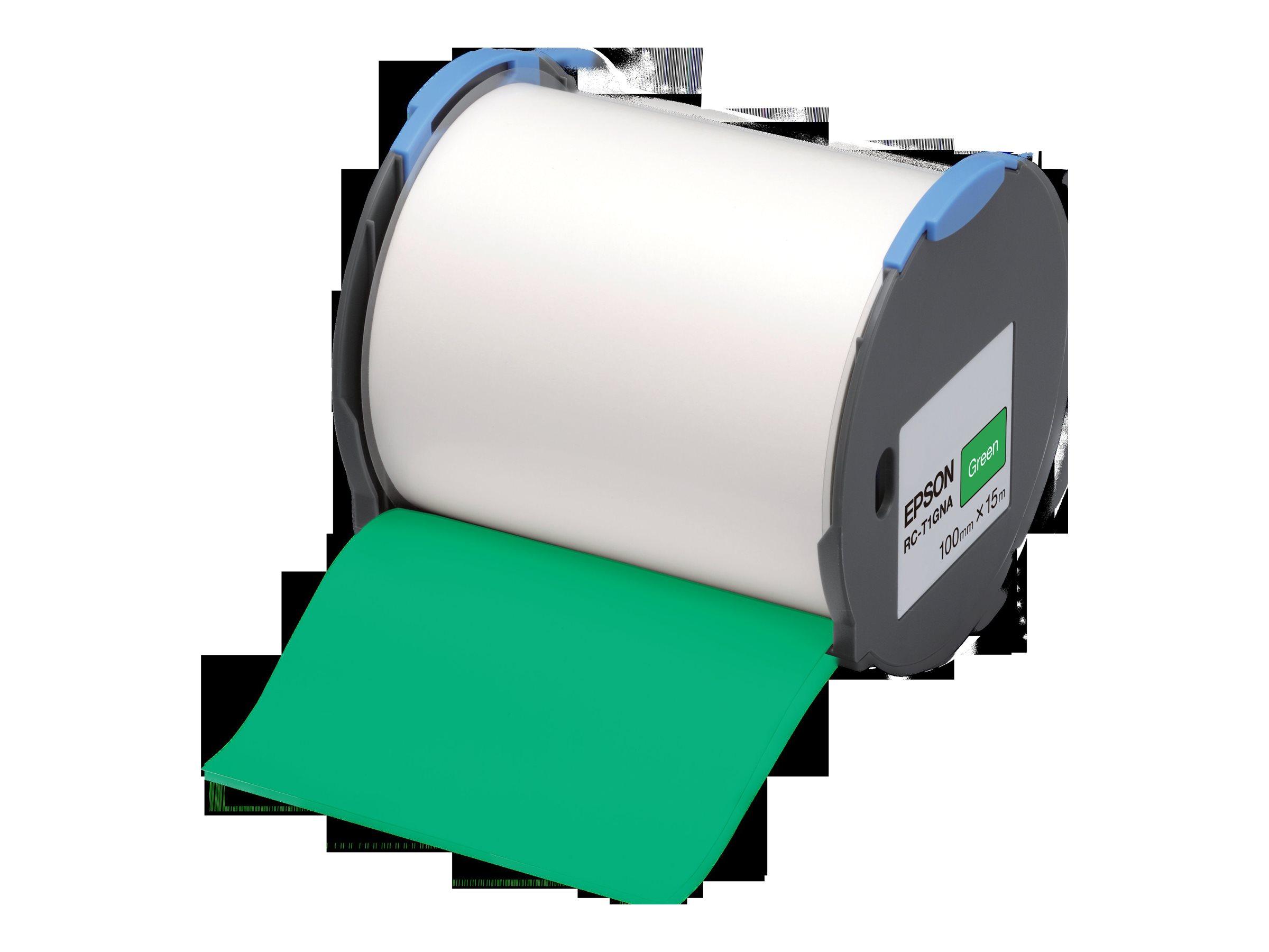 Epson RC-T1GNA - Polyolefin - selbstklebend - grün - Rolle (10 cm x 15 m)