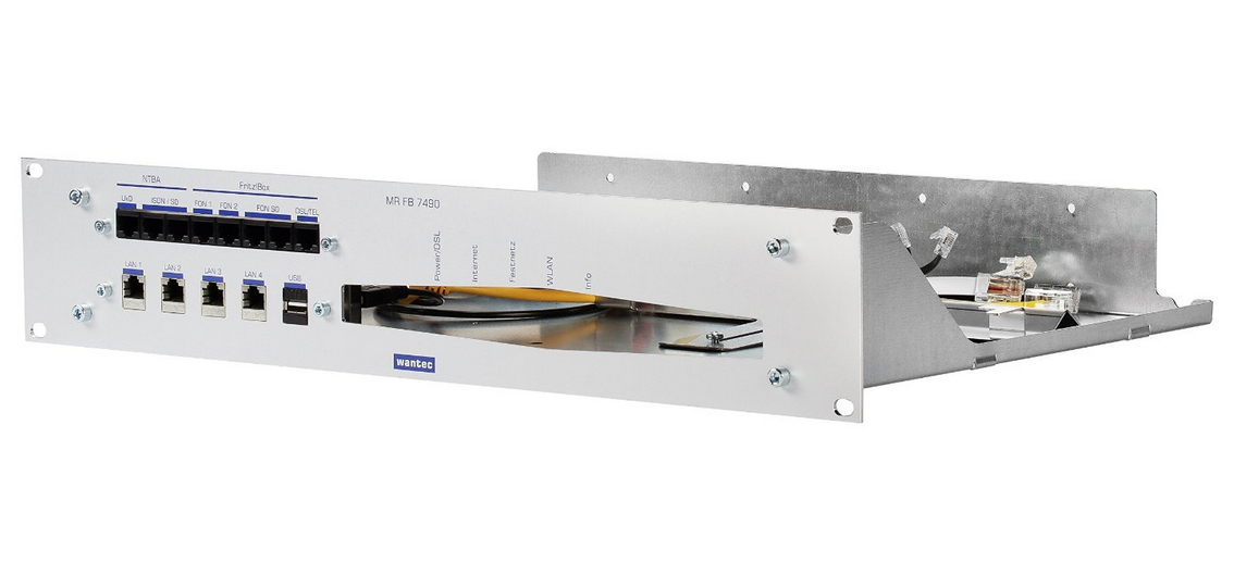 WANTEC 2090 - Silber - Metall - Rackeinbau - 2U - 25 cm - 482,6 mm