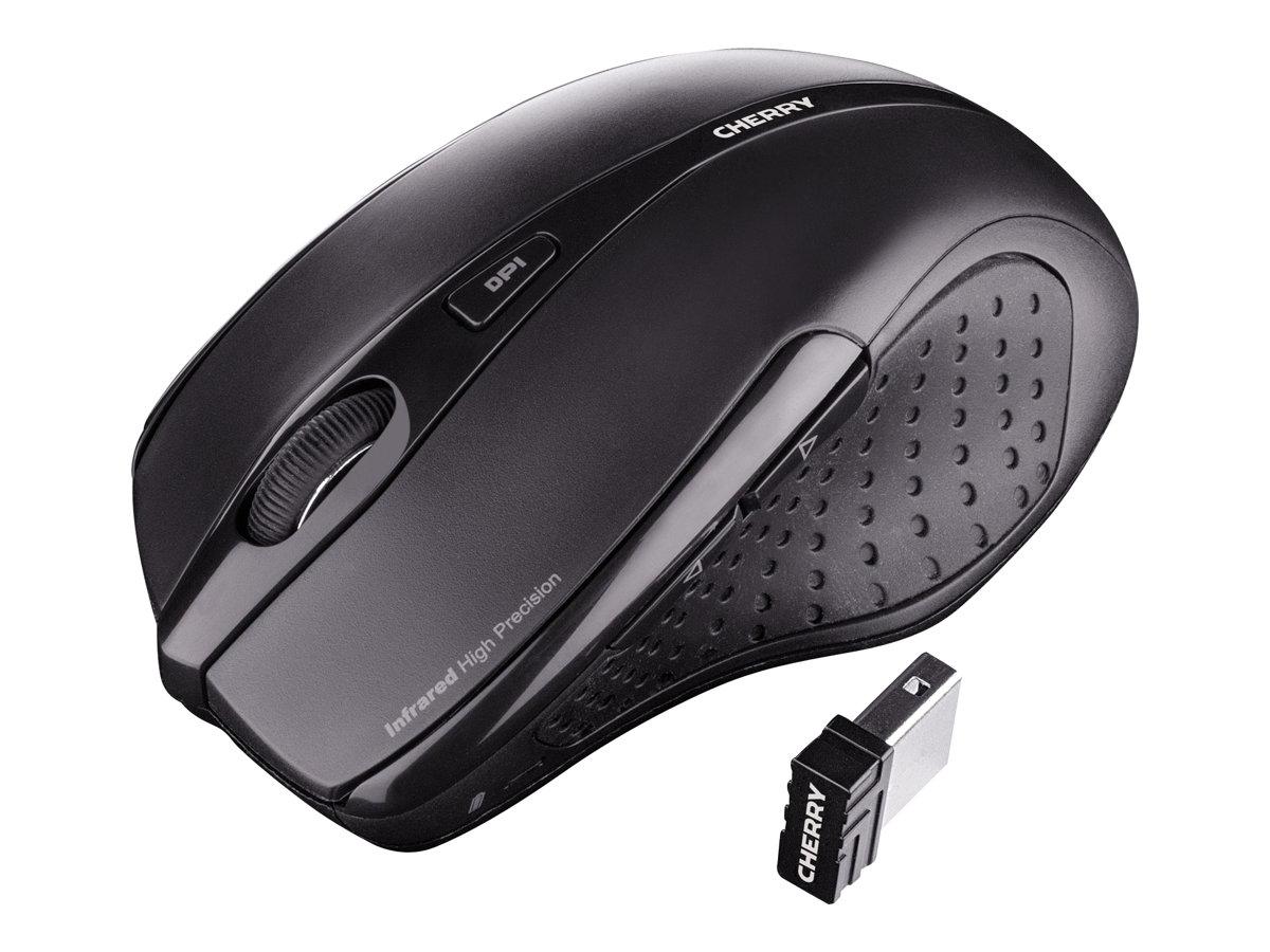 Cherry MW 3000 - Maus - Für Rechtshänder - Infrarot - 5 Tasten - kabellos - 2.4 GHz - kabelloser Empfänger (USB)