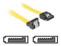Delock SATA-Anschlusskabel -Serial ATA 150/300/600 - SATA (W) - gelb - 100 cm - gerade+abgewinkelt