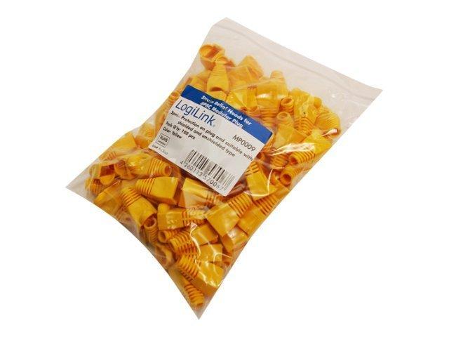 LogiLink Steckerhülle - Gelb (Packung mit 100)