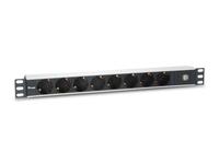 333305 8AC-Ausgänge 1U Schwarz - Grau Stromverteilereinheit (PDU)