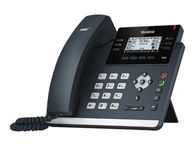 Yealink T42S - VoIP-Telefon - mit Bluetooth-Schnittstelle