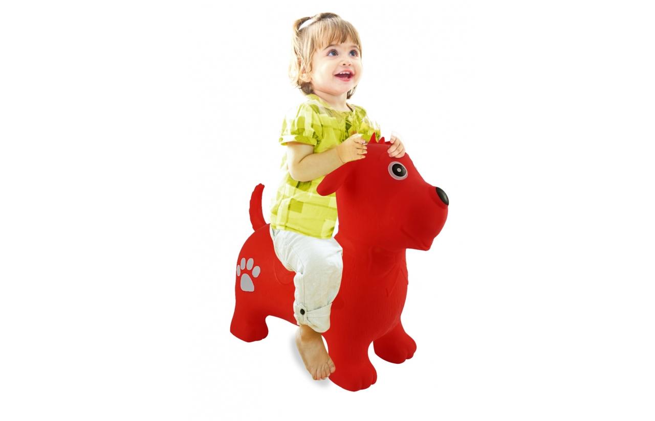 JAMARA Jumping Animal bouncer dog - Trichter Spielzeugtier - Junge/Mädchen - 1 Jahr(e) - Rot - 1,3 kg