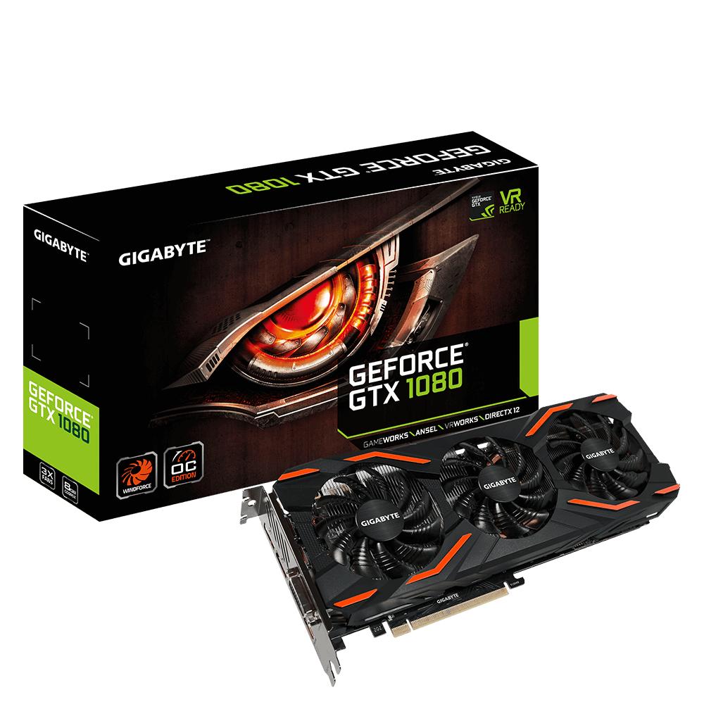 Gigabyte GeForce GTX 1080 WINDFORCE OC 8G - Grafikkarten - GF GTX 1080