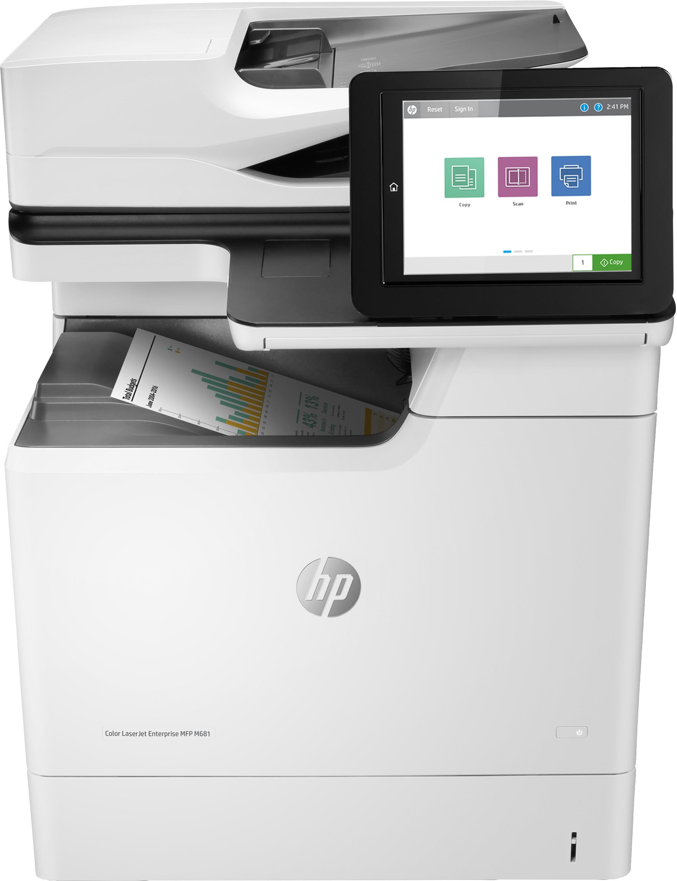 HP Color LaserJet Enterprise M681dh, Farblaser, MFP, A4