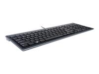Advance Fit Tastatur USB AZERTY Französisch Schwarz