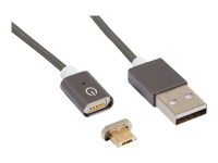 168194 1m USB Micro-USB Grau Handykabel