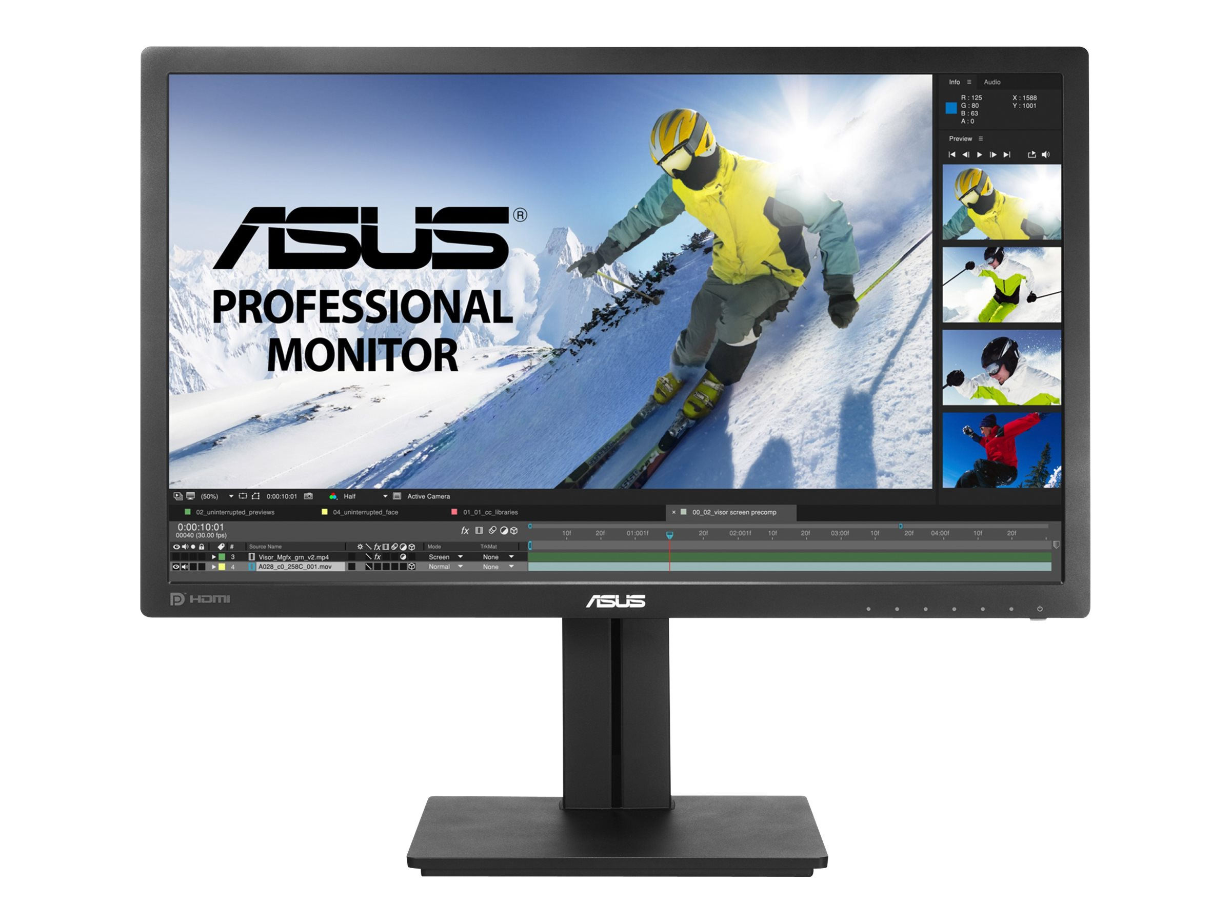 "ASUS PB278QV - LED-Monitor - 68.6 cm (27"") - 2560 x 1440 @ 75 Hz"