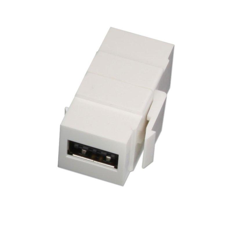 Lindy 60583 USB A USB A Weiß Kabelschnittstellen-/adapter