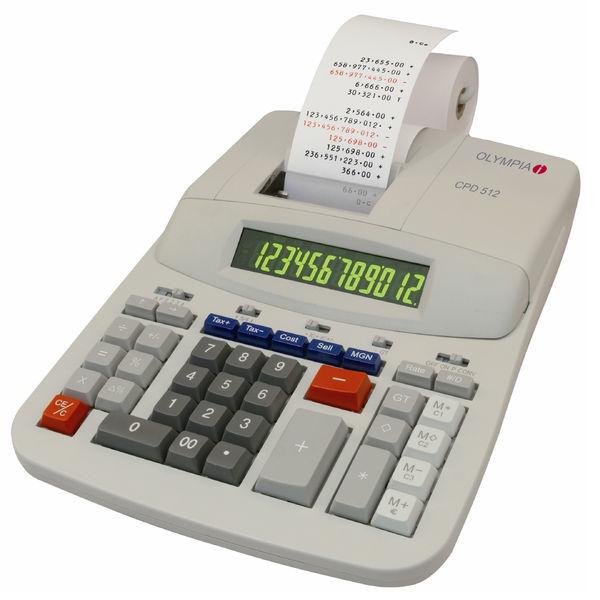 Olympia CPD 512 - Tischrechner - 12-stellige Anzeige - Druckrechner