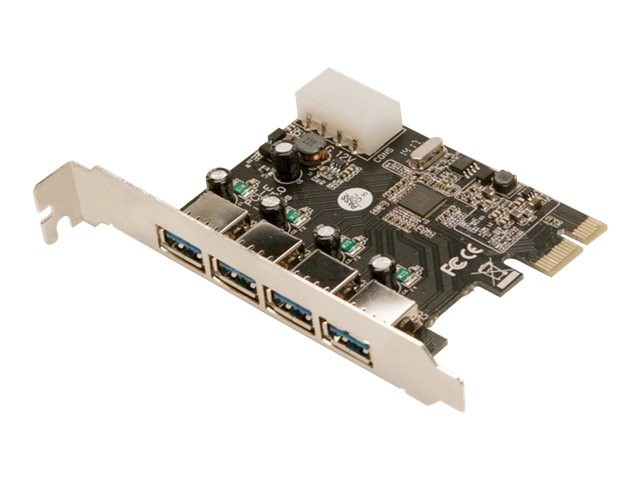 LogiLink USB 3.0 4-Port PCI Express Card - USB-Adapter