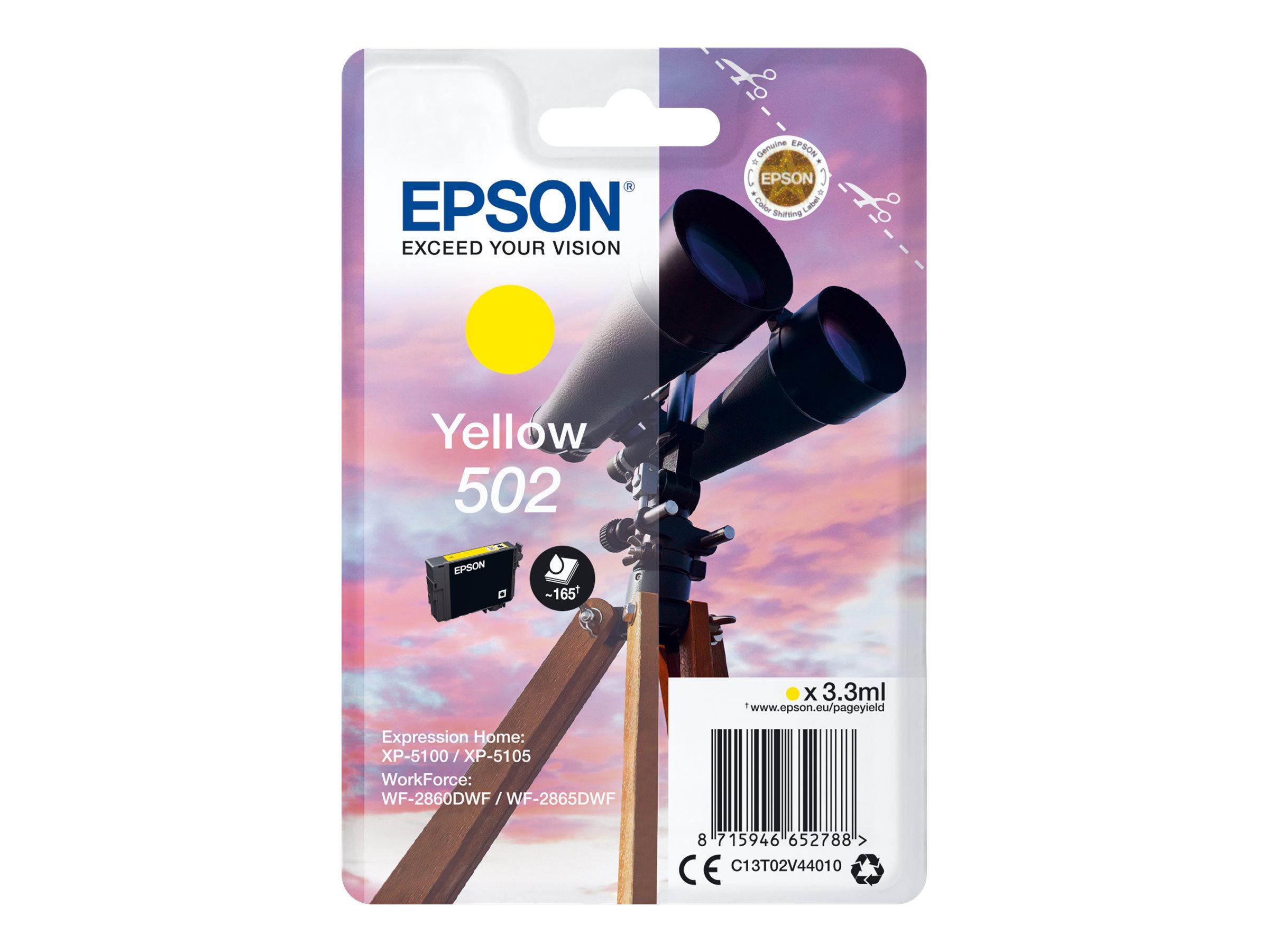 Epson 502 - 3.3 ml - Gelb - Original - Blisterverpackung
