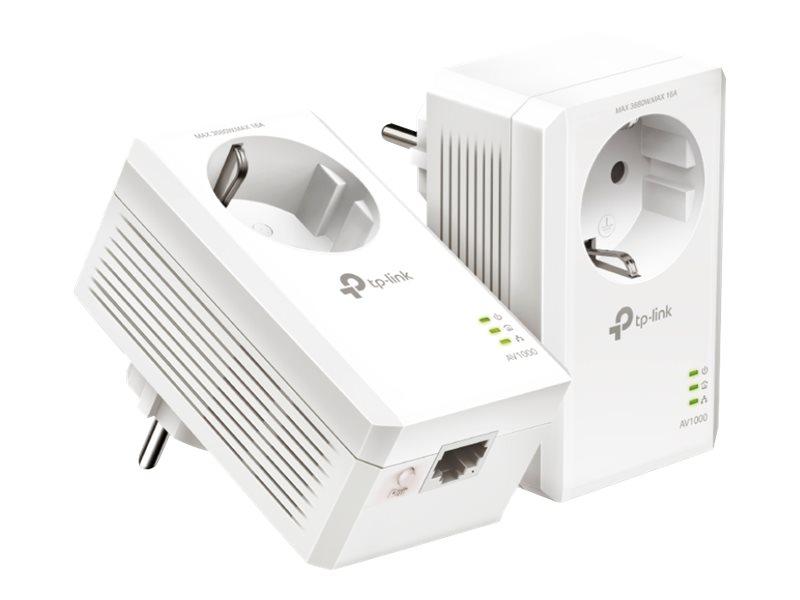 Vorschau: TP-LINK AV1000 - Gigabit Passthrough Powerline Starter Kit - Bridge - GigE, HomePlug AV (HPAV)