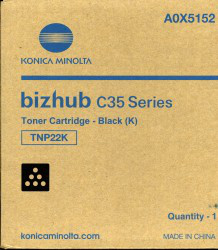 Konica Minolta A0X5252 Bizhub C35 Tonerkartusche 4.500 Seiten gelb