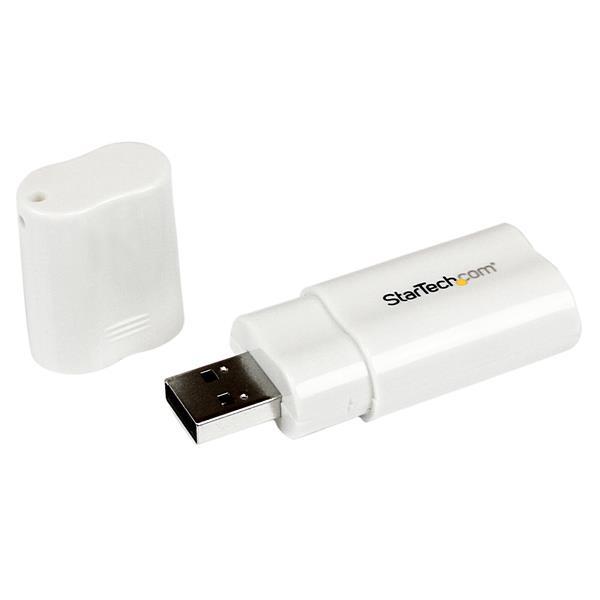 StarTech.com USB Audio Adapter - Externe USB Soundkarte - Weiß