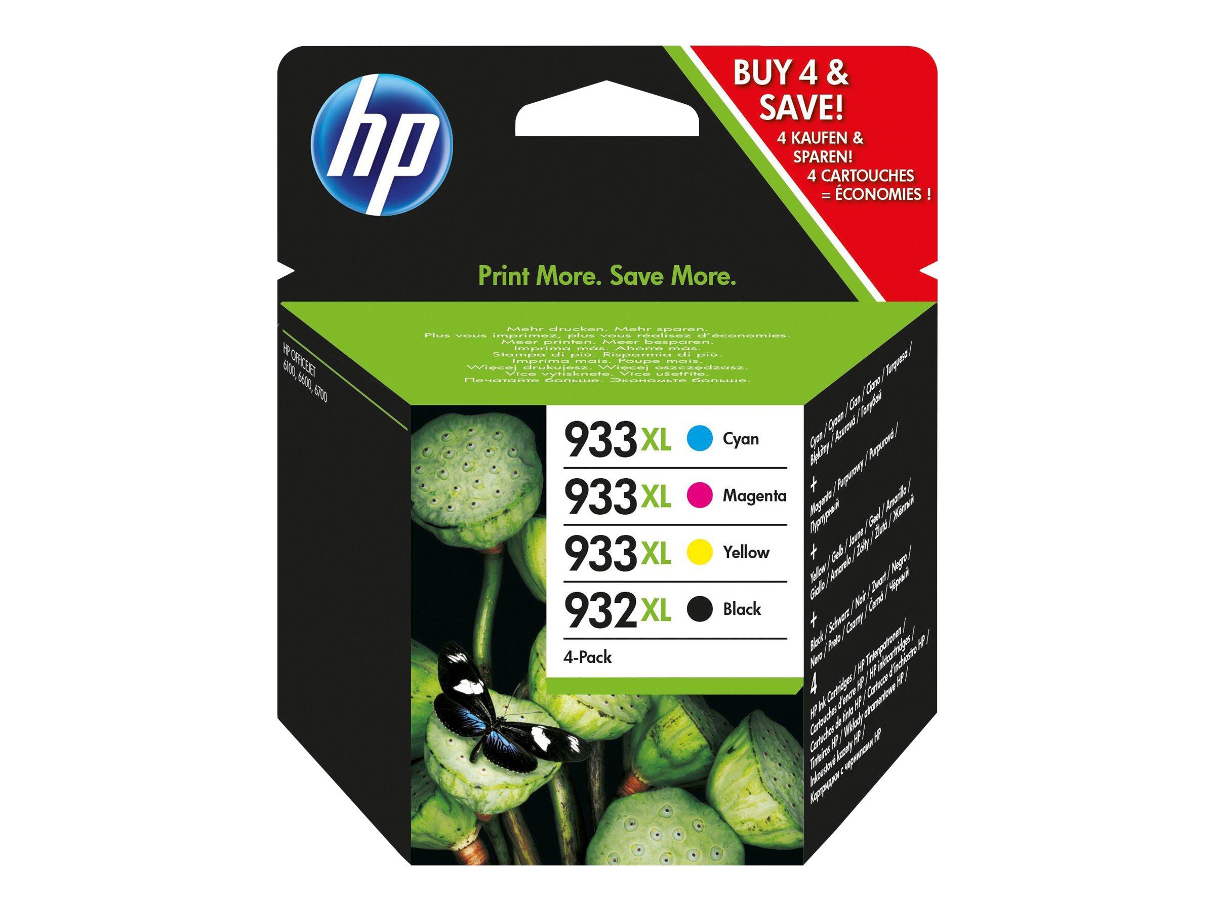 HP 932/933 Combo Pack - 4er-Pack - Schwarz, Gelb, Cyan, Magenta