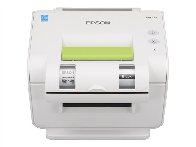 Epson LabelWorks Pro100 - Etiketten-/Labeldrucker s/w Etiketten-/Labeldrucker, Nadel/Matrixdruck, Thermotransferdruck - 300 dpi - 4 ppm