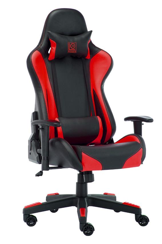 LC Power LC-GC-600BR - Gepolsterter Sitz - Gepolsterte Rückenlehne - Schwarz - Rot - Schwarz - Rot - Schaum - Kunststoff - Schaum - Kunststoff